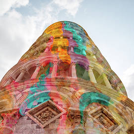 Colourful Leaning Tower Of Pisa by Clare Bambers