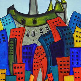Colourful Parliament by Heather Lovat-Fraser