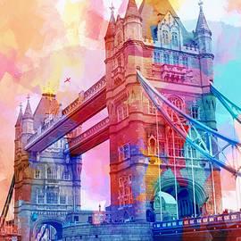 Colourful Tower Bridge by Lutz Baar