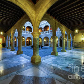 Columned Courtyard Castillo De Luna Rota Cadiz Spain by Pablo Avanzini