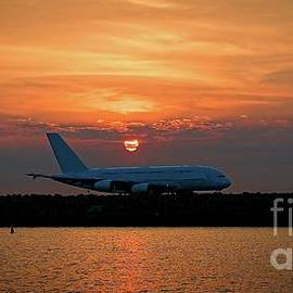 Commercial Jet Aircraft at Sunset