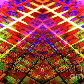 Computer Circuit Board Kaleidoscopic Design