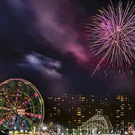 Coney Island Fireworks by Susan Candelario