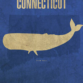 Design Turnpike - Connecticut State Facts Minimalist Movie Poster Art