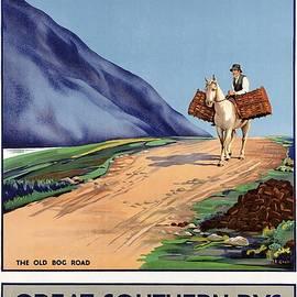 Connemara, Ireland - Great Southern Rys - Horse Riding - Retro travel Poster - Vintage Poster - Studio Grafiikka