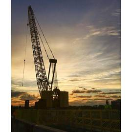 Construction Crane At Sunrise