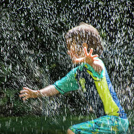 Randall Nyhof - Cooling Off on a Hot Summer Day with the Lawn Water Sprinkler