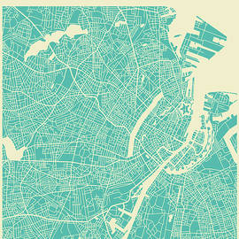 COPENHAGEN STREET MAP 2 - Jazzberry Blue