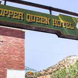 Amy Sorvillo - Copper Queen Hotel Sign in Bisbee Arizona