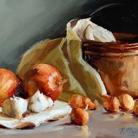 Copper Vessel and Onions by Viktoria K Majestic