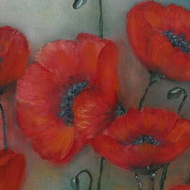 Zebboudji Wided - Coquelicots Rouge