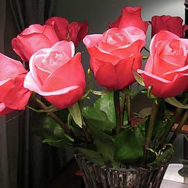 Connie Fox - Coral Rose Bouquet
