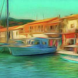Corfu 14 - Panorama Of Lakka On Paxos by Leigh Kemp