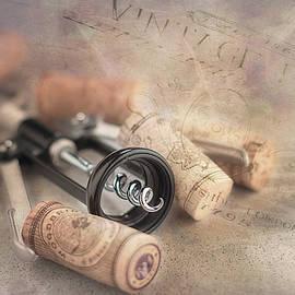 Corkscrew and Wine Corks by Tom Mc Nemar