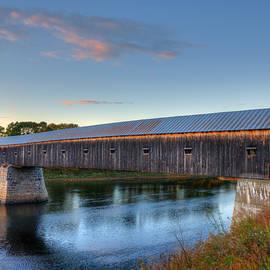 Joann Vitali - Cornish Windsor Covered Bridge Sunset