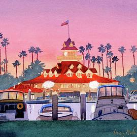 Mary Helmreich - Coronado Boathouse after Sunset