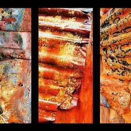 Lexa Harpell - Corrugated Iron Triptych #2