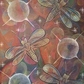 Cosmic Dragonflies  by Laurie Cairone