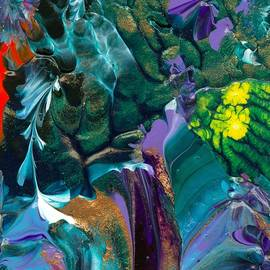 Cosmic Feathered Webbed Universe by Nan Bilden