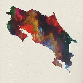 Costa Rica Watercolor Map - Design Turnpike