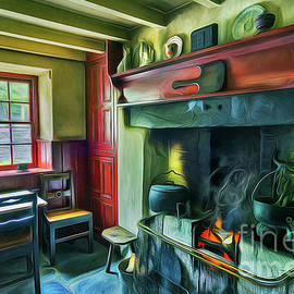 Ian Mitchell - Cosy Cottage Oil Painting