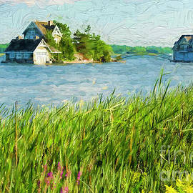Les Palenik - Cottage and a boathouse - painterly