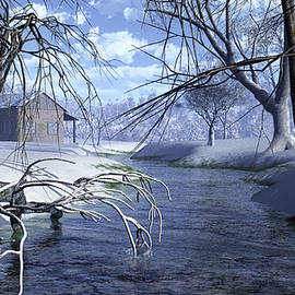 Diana Voyajolu - Cottage in the Snow