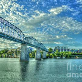 Reid Callaway - Cotton Sky Walnut Pedestrian Bridge Chattanooga Skyline Art