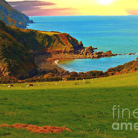 Countisbury Head Sunset by Richard Denyer
