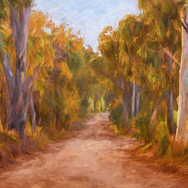 Michelle Wrighton - Country Roads 2  Impressionism art