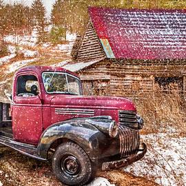 Country Scene in Winter by Debra and Dave Vanderlaan