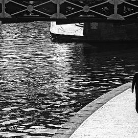 Couple And Canal by Adrian Pym