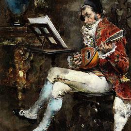 Courtly madolin players in salon - Giovanni Boldini