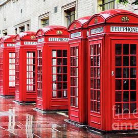 Covent Garden phone boxes - Jane Rix