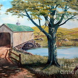 Lee Piper - Covered Bridge, Americana, Folk Art