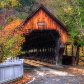 Joann Vitali - Covered Bridge in Autumn - Woodstock Vermont
