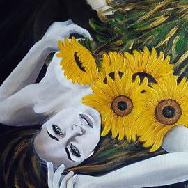 Covered in sunflowers by Malgorzata Pieczonka pseud Vangocha
