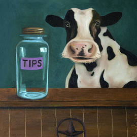 Cow Tipping by Leah Saulnier The Painting Maniac