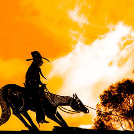 Cowboy Sunset by KaFra Art