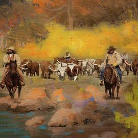 Cowboys and Longhorns by Toni Hopper