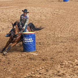 Sally Weigand - Cowgirl Rounding Barrel