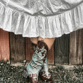 Sharon Popek - Cowgirl Skirt with Boots