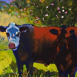 Cows Sheltering Under A Tree by Mike Jory