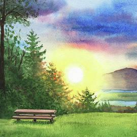 Cozy Inviting Bench To Watch The Sunset by Irina Sztukowski