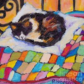 Cozy Kitty on a Quilt by Peggy Johnson by Peggy Johnson
