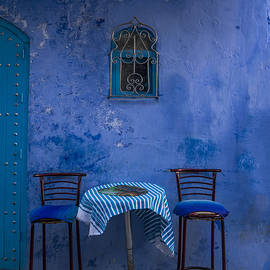 Lindley Johnson - Cozy Table in Chefchaouen