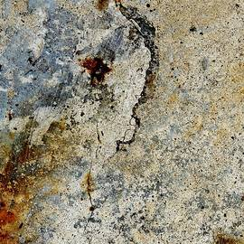 Denise Clark - Cracked Concrete and Rust Abstract 2