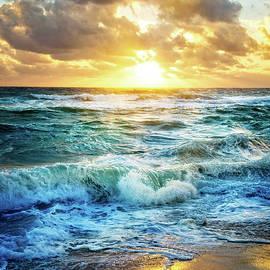 Debra and Dave Vanderlaan - Crashing Waves Into Shore
