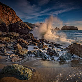 Rick Berk - Crashing Waves on Rodeo Beach