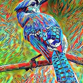 Crazy Blue Bird by Jack Torcello